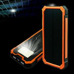100000mah 2usb solar power bank pack external