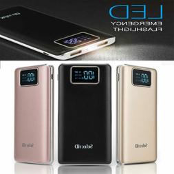 100000mAh Power Bank 2USB Backup Pack Battery Charger For Un