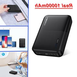 10000mAh Pocket Mini Power Bank Dual USB Battery Charger For
