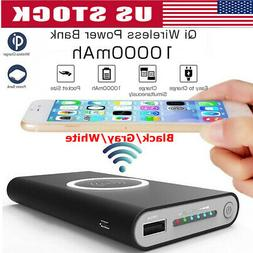 10000mAh Qi Wireless Fast Charging Charger Power Bank For Sa