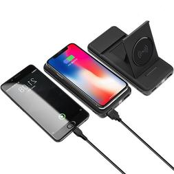 10000mAh  Wireless Power Bank charger with LED Digital Displ