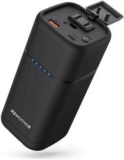 RAVPower 20000mAh 80W AC Power Bank with 30W PD USB C AC Out