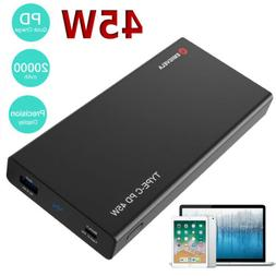 20000mAh PD 45W Portable Power Bank Charger Type-C USB Fast