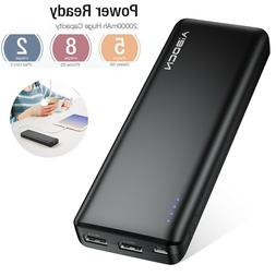 Aibocn 20000mAh Power Bank Dual USB Portable Battery Charger