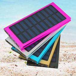 20000mAh Slim 2 USB Portable Battery Charger Solar Power Ban