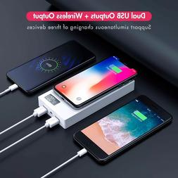 20000mAh Wireless Power Bank External Battery Pack with LED