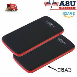 2PCS 10000mah Power Bank Fast Charging Portable Charger with