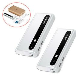 2x Aibocn 10000mAh USB Portable Power Bank Battery Charger F