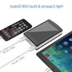 30000/50000/80000 mAh Dual USB Solar Power Bank External Bat