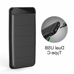 300000mAh Power Bank 2 USB Fast Charging LED Type-C Battery