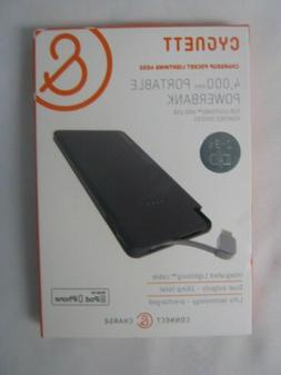 Cygnett 4,000mAh Portable Power Bank Charger with Integrated