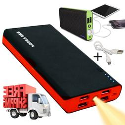 4 USB Charger Phone Power Bank 50000mAh LED External Battery