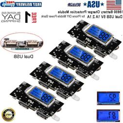 4PCS Dual USB 5V 1A 2.1A 18650 Battery Charger Module For Ph