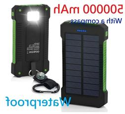 POWERNEWS 500000mAh 2 USB Portable Solar Battery Charger Sol