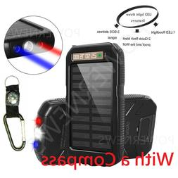 POWERNEWS 900000mAh Dual USB Waterproof Solar Charger Solar