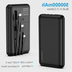 500000mAh Power Bank LED USB Portable External Battery Charg