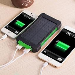 50000mah Dual-USB Solar Power Bank Battery Charger for Cell