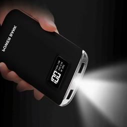 50000mAh External Battery 2USB LED LCD Power Bank Charger fo