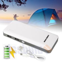50000mAh Power Bank 2 USB Battery Backup Charger For Samsung
