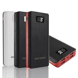 50000mAh Power Bank LED LCD 4USB Battery Charger For Samsung