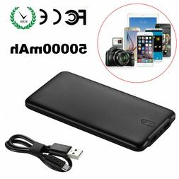 50000mAh Portable Quick Power Bank Dual USB Battery Charger