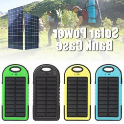 5000mAh Solar Power Bank Dual USB Waterproof Portable Charge