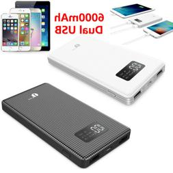 6000/10000mAh Power Bank Waterproof Dual USB Portable Batter