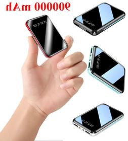 900000mAh Power Bank LCD LED Charger for Cell Phone Pack 2 U