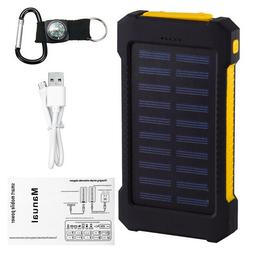 900000mAh Waterproof Solar Power Bank External Battery Charg