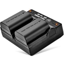 BM 2-Pack of LP-E6N Batteries and Dual USB Battery Charger f
