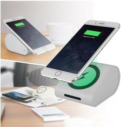 Qi Wireless Charger Power Bank Compact Portable External Bac