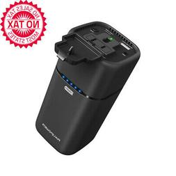 AC Outlet Power Bank 20100mAh 65W Built In 2-Prong AC Plug E