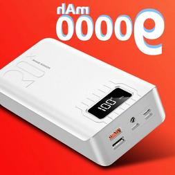 Bank 900000mah Portable Power Bank 4 USB Battery Charger Ban