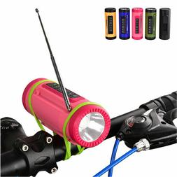 Bicycle Bluetooth Speaker LED Flashlight With Microphone FM