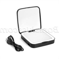 Compact LED Light Foldable Double Sided Makeup Mirror Phone