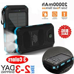 External Backup Battery, Portable Solar Power Bank for Cell