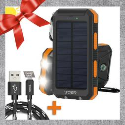 Gift Idea Solar Power Bank + Heavy Duty FAST Charger Cable F