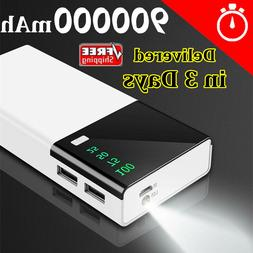 Huge Capacity Power Bank 900000mAh Portable New External Bat