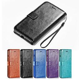 iPhone 8 Plus Case, iPhone 7 Plus Case, HLCT PU Leather Wall