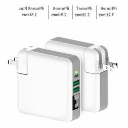 For IPhone 8 X Xs Travel Charger Power Bank 6700mAh Wireless