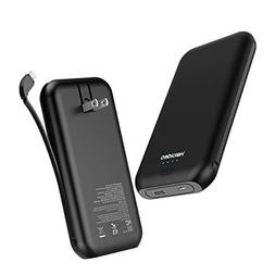 Heloideo 15000mAh Power Bank with AC Plug, Fast Charging Por
