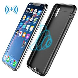 iPhone Xs Max Battery Case,,5000mAh Rechargeable Charging Ca