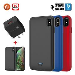 For iPhone X/XR/XS Max Battery Case Power Bank Charging Slim