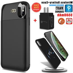 For iPhone X /XR / XS Max Qi Wireless Battery Case Power Ban