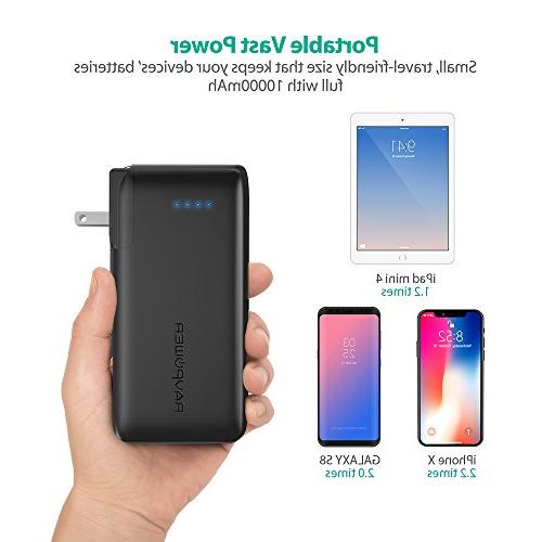 Portable 10000 2-in-1 and Power Bank, 10000mAh Capacity with iSmart USB 3.4A Max for iPhone iPhone X, iPad, Galaxy More