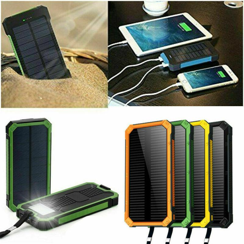 100000mAh 2USB Solar Bank Pack External Charger for Cell Phone Hot