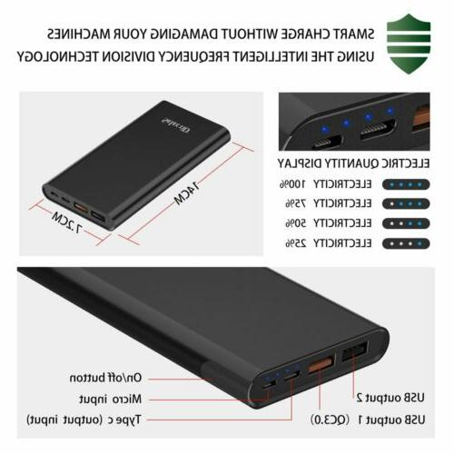 100000mAh Dual Power Portable LED Charger Cell