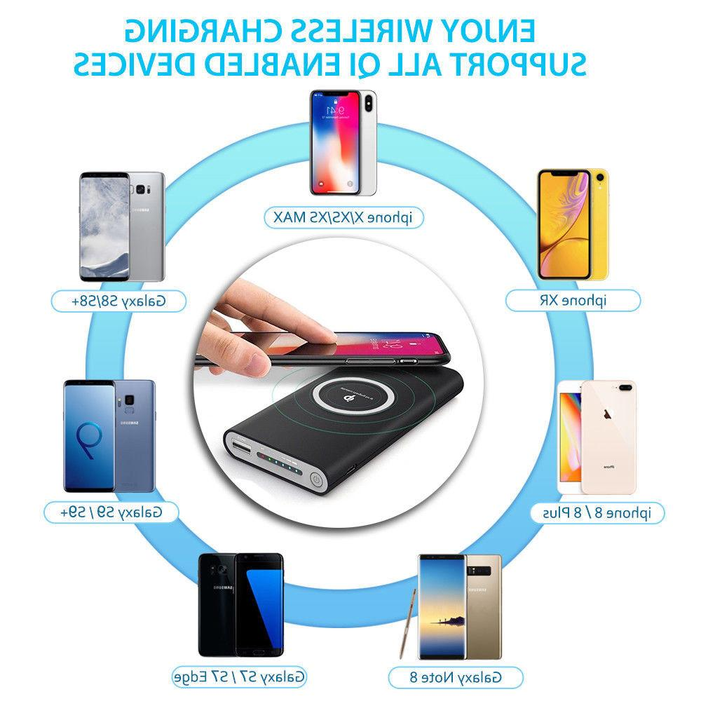 10000mAh Qi Power Bank for