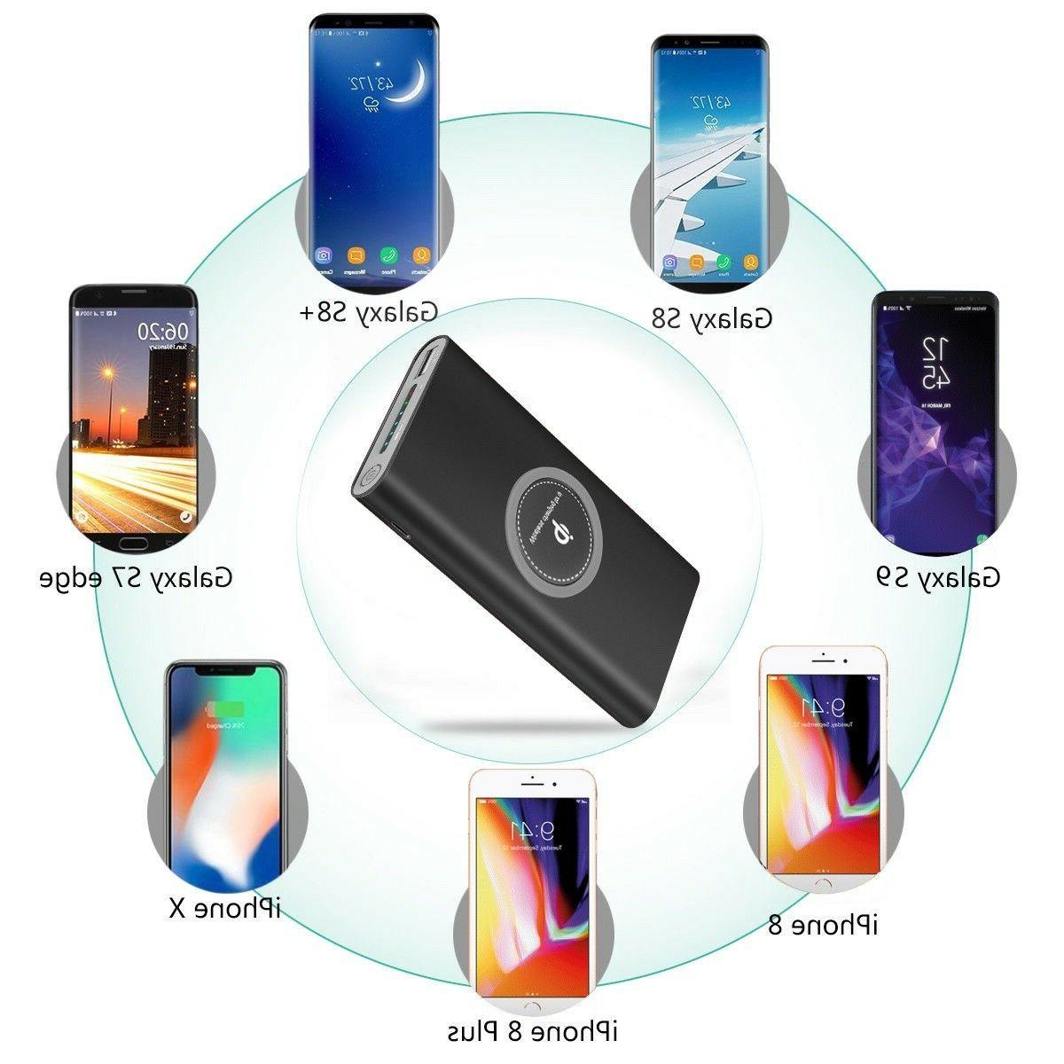 10000mAh Qi Wireless Power for Phone