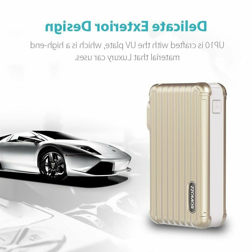 ROMOSS 10000mAh Power with Wall Charger & Dual Portable Charger